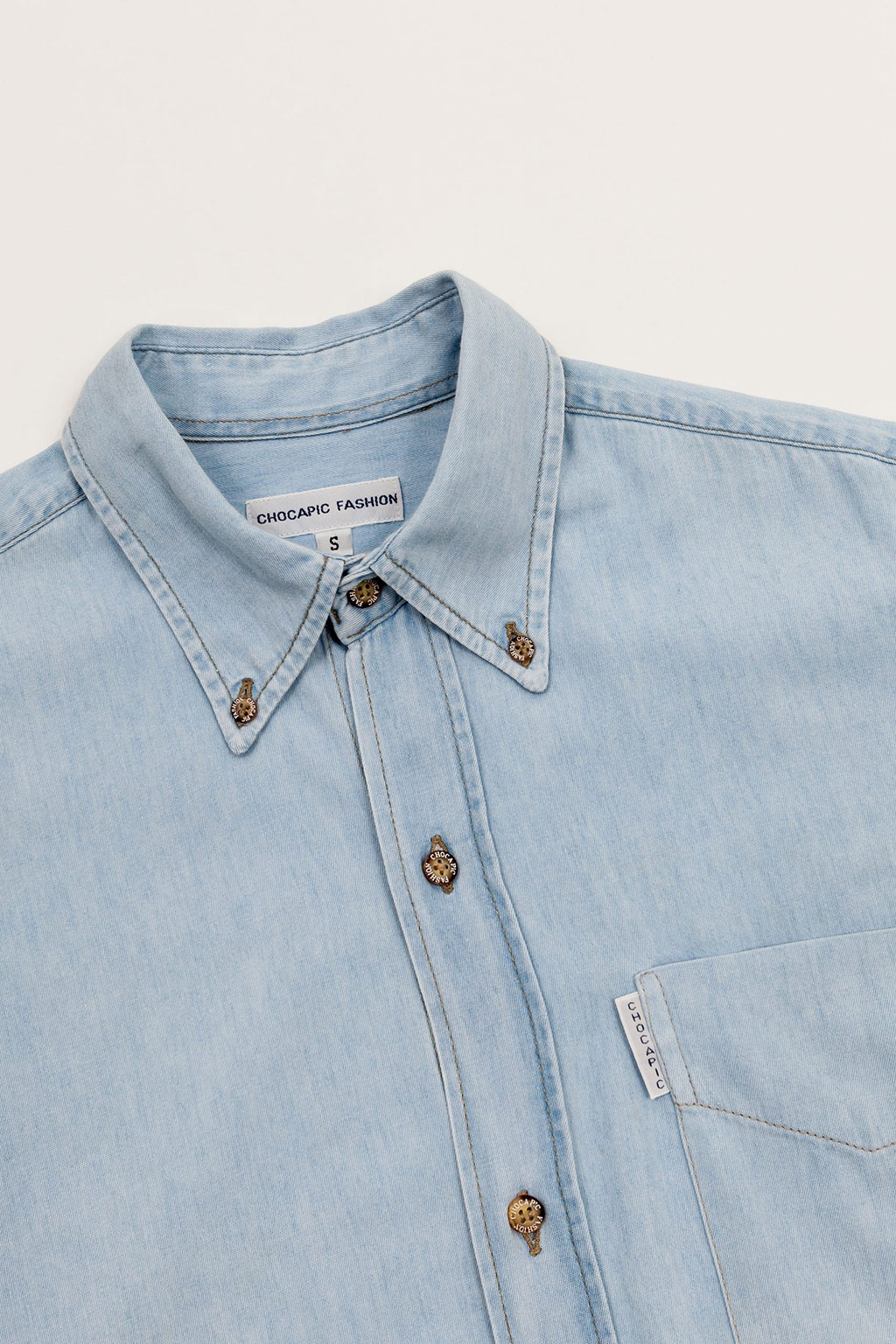 camisa botoes etiqueta personalizada